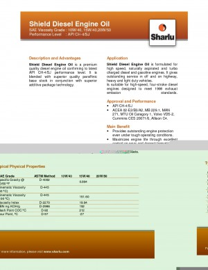 Sharlu Sheild Diesel Engine Oil (CH-4/SJ)